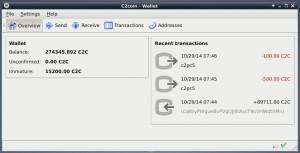 GUI-Wallet unter Linux