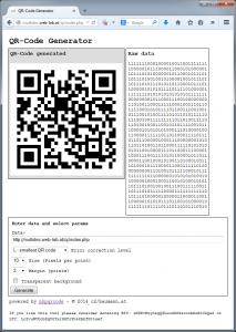 Screenshot QR-Generator
