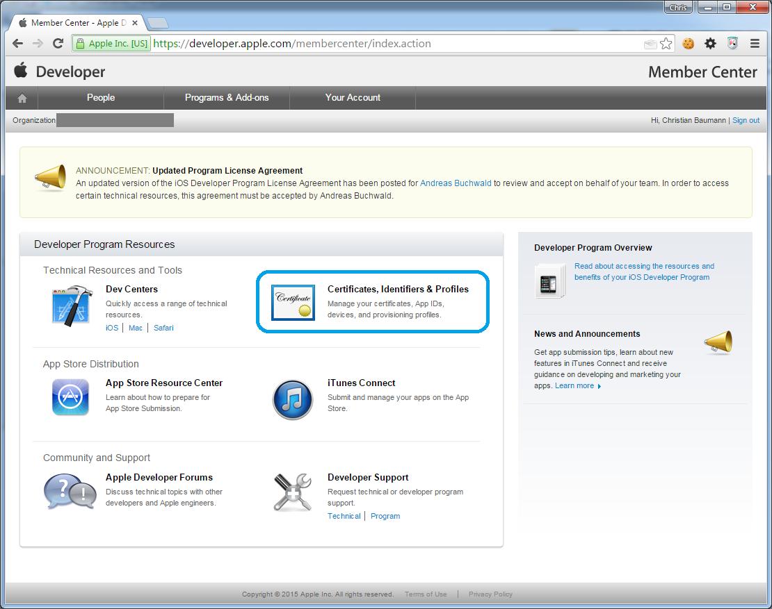 Apple Push Notification Server Zertifikat Erstellen Baumannat